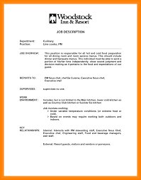 job description line cook resume objectives for high students