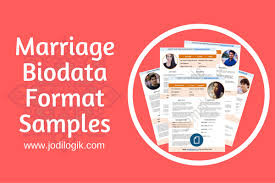 Proforma Of Resume For Job by 9 Sample Biodata Format For Marriage With Bonus Writing Tips