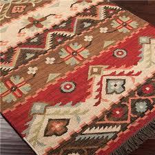 Colorful Aztec Rug Native Blanket Flatweave Wool Kilim Rug Wool Cabin And Search