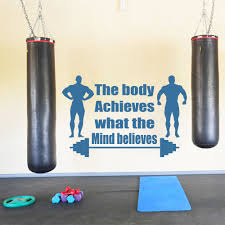 the body achieves what the mind believes quote wall stickers the body achieves what the mind believes quote wall stickers sports gym decals in wall stickers from home garden on aliexpress com alibaba group