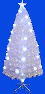 clearance sale pre lit fiber optic sprkling white