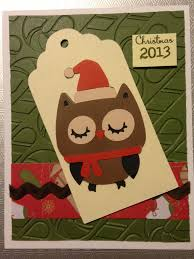 Homemade Christmas Card Ideas by Homemade Christmas Card A Christmas Owl With Embossed Candy