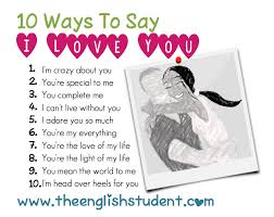 You Re The Light Of My Life Esl Esl Vocabulary Ways To Say I Love You I Love You All