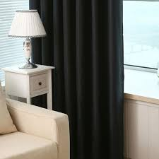 Hotel Drapes Virginia Blackout Weave Grommet Curtain Panels Set Of 2