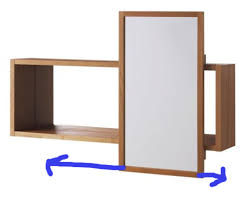 Sliding Bathroom Mirror Molger Sliding Bathroom Mirrored Cabinet By Ikea Apartment Therapy