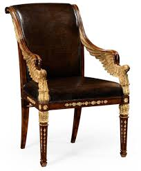 Italian Leather Dining Chair Empire Furniture Empire Style Furniture High End Dining Chair