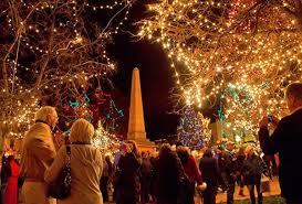 lighting on the santa fe plaza inside santa fe
