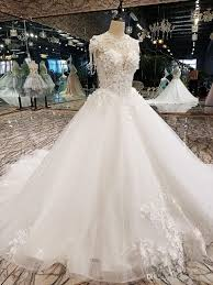 luxury korean wedding dresses 2017 floral champagne ivory beaded