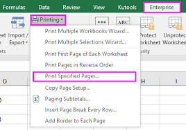 how to print all pages in a sheet or workbook