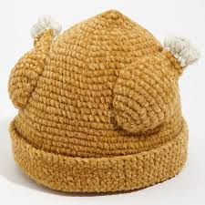 knit turkey hat the green