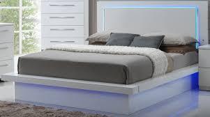 sapphire high gloss white laminate platform bedroom set from new