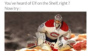 Hockey Goalie Memes - can you guess the names of these nhl elf on the shelf memes