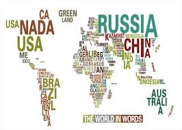 world map with country names world map with country name in color wholesale canvas poster