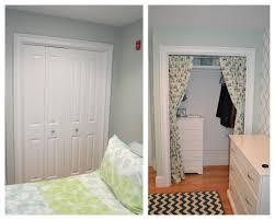 Closet Curtain Nursery Closet Curtains Kickittogether