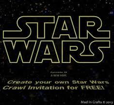 star wars crawl video birthday invitation