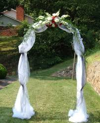 wedding arch decoration ideas wedding arch decorated with tulle 2194