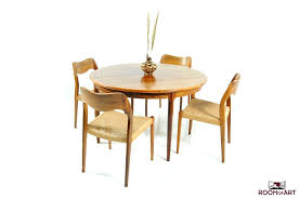 round danish dining table in palisander modernism