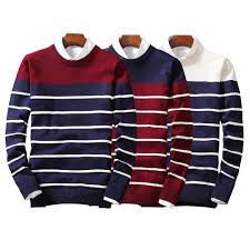 sale 2017 autumn winter new sweater striped pull homme