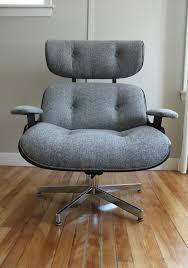 Plycraft Eames Chair Blue Lamb Furnishings Plycraft Lounge Chair Ottoman Sold