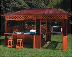 gazebos here u0027s a lattice wood gazebo with a