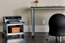 Under Desk Printer Stand Wood by Amazon Com Safco Products 1855bl Scoot Under Desk Printer Machine