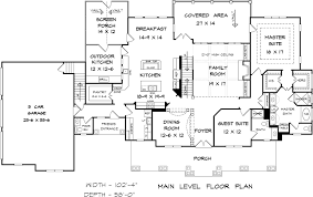 4 bedroom farmhouse plans house plan 58272 at familyhomeplans com