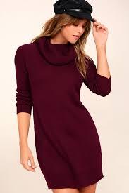 dress knit dress cowl neck dress