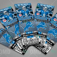 Detroit Lions Home Decor by Sports Invites Detroit Lions Football Ticket Style Sports Party
