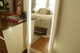 full length mirror with led lights diy lighted mirror under 70 checking in with chelsea