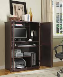 Harbor View Computer Desk With Hutch by Furniture Amish Petite Computer Armoire Plus Desk And Hutch For