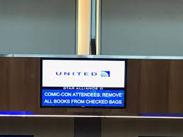 united carry on rules tsa united clash over rules for comics in checked bags comic book