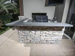 outdoor kitchen countertops ideas outdoor kitchen grey concrete counter tops home devotee