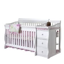 Sorelle Tuscany 4 In 1 Convertible Crib And Changer Combo Sorelle Tuscany 4 In 1 Convertible Crib And Changer Combo In White