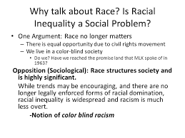 What Is Color Blind Racism Racial And Ethnic Inequality Lecture Outline I The Significance
