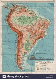 South West America Map by South America Physical Inset West East Cross Section Johnston