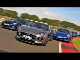 jaguar f type vs porsche 911 jaguar f type r vs nissan gt r vs audi r8 v10 plus vs porsche
