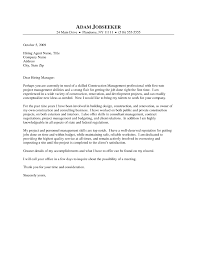 construction management cover letter examples fire alarm project
