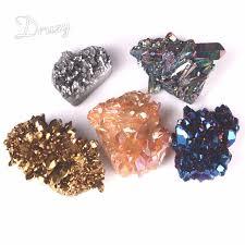 Semi Ornaments Druzy1pc Geode Special Reiki Chakra Titanium
