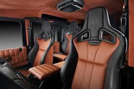 siege auto sport tuning custom orange grey interior land rover defender 90 leather