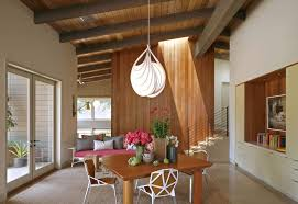mid century modern wood ceiling dining room midcentury with french