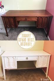 thrift store desk remodel no sanding no priming with enamel