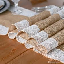 retail natural burlap table runner hessian vintage tablecloth