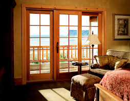 Wooden Home Decoration Charming Pella Sliding Glass Doors With Blinds Inside At Wooden