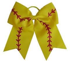softball ribbon softball glitter cheer bow pony 3 inch ribbon hair