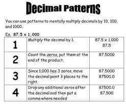 copy of multiplying decimals by 10 100 1000 lessons tes teach