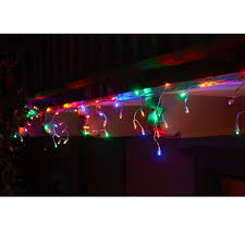 multi color icicle lights lights home osh