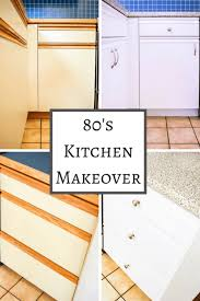 can you paint melamine cabinets 80s kitchen update reveal the handyman s
