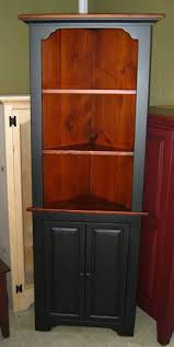 corner cupboards collection amish made in pa