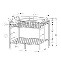 Monarch Specialties Inc Full Over Full Futon Bunk Bed  Reviews - Full futon bunk bed