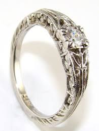 mine cut engagement ring the antique floral recreation mine cut ring the jewelers